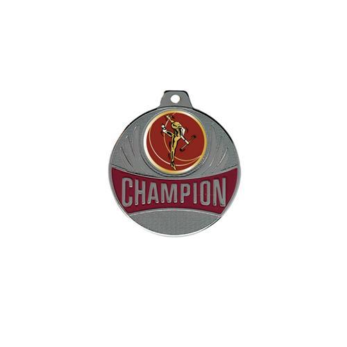 Médaille twirling argent champion - 50mm.