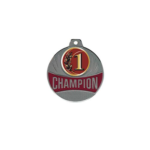 Médaille 1er argent - champion - 50mm.