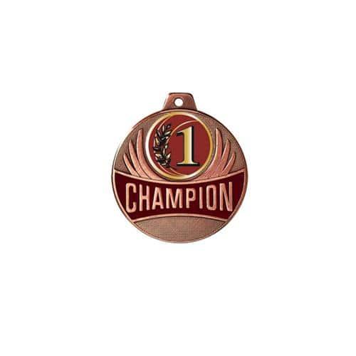 Médaille 1er bronze - champion - 50mm.