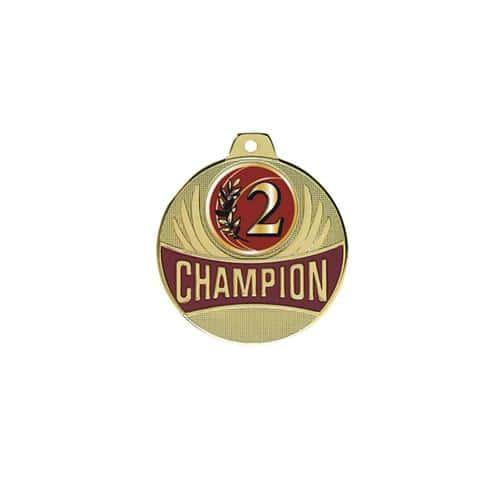 Médaille 2ème or - champion 50mm.