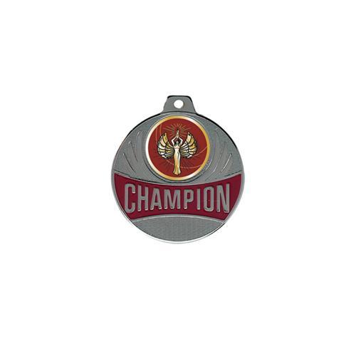 Médaille victoire argent champion - 50mm.