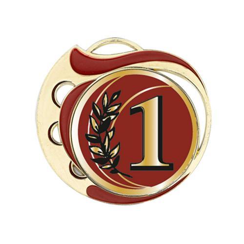 Médaille 1er rouge et or - 70mm.
