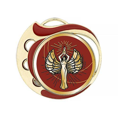 Médaille victoire rouge et or - 70mm.