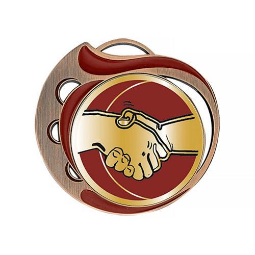Médaille amitié rouge et bronze - 70mm.