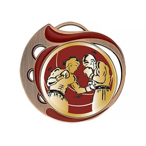Médaille boxe rouge et bronze - 70mm.