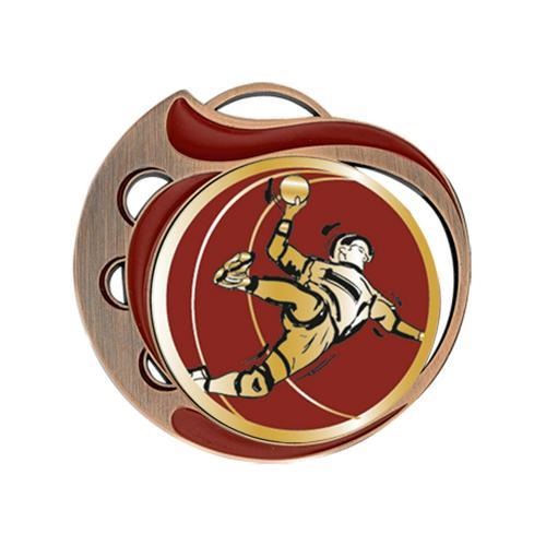 Médaille hand rouge et bronze - 70mm.