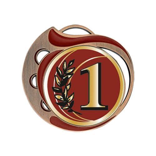 Médaille 1er rouge et bronze 70mm.