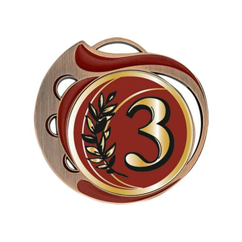 Médaille 3ème rouge et bronze - 70mm.