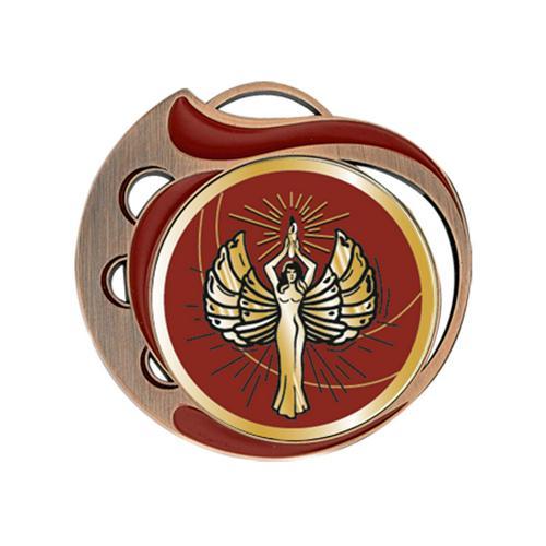 Médaille victoire rouge et bronze - 70mm.