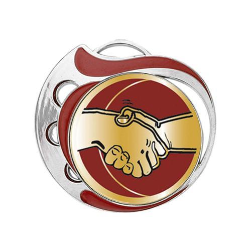 Médaille amitié rouge et argent - 70mm.