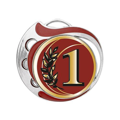 Médaille 1er rouge et argent - 70mm.