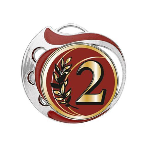 Médaille 2ème rouge et argent - 70mm.