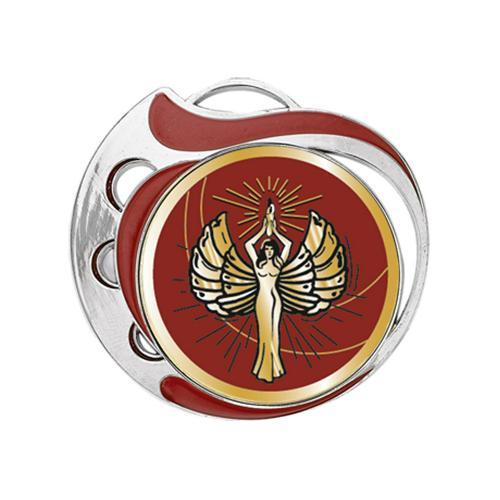 Médaille victoire rouge et argent - 70mm.