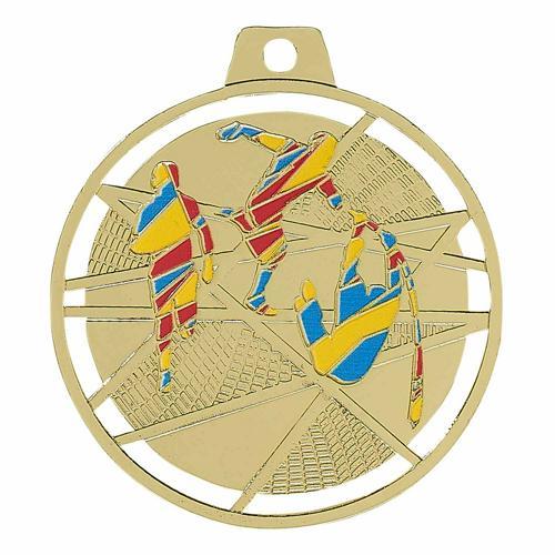 Médaille athlétisme or émaillées - 70mm.