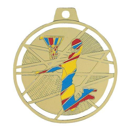 Médaille basket or - émaillées - 70mm.