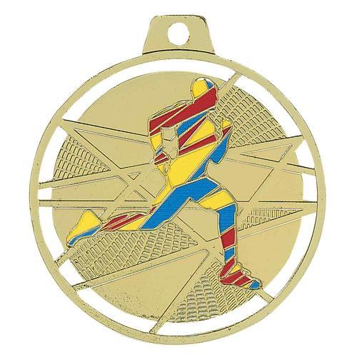 Médaille course or - émaillées - 70mm.