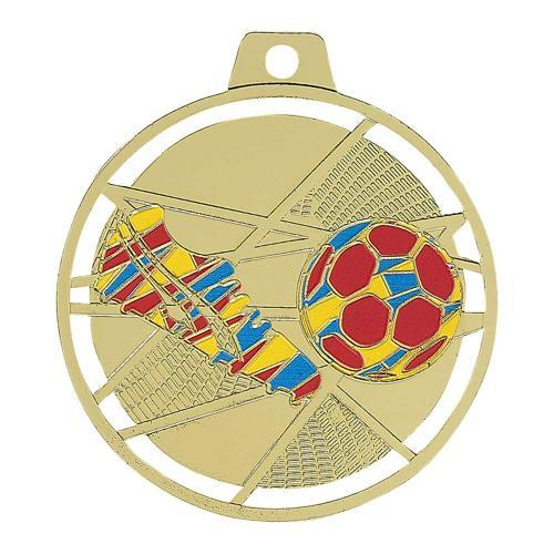 Médaille foot or - émaillées 70mm.