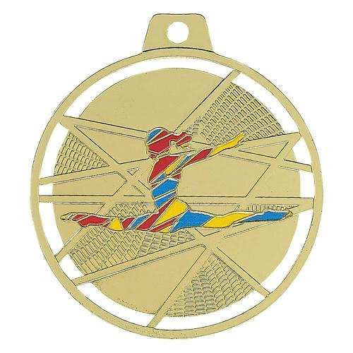 Médaille gym or - émaillées 70mm.