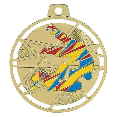 Médaille judo or - émaillées 70mm.