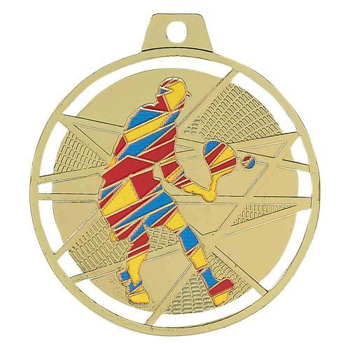 Médaille tennis or - émaillées - 70mm.