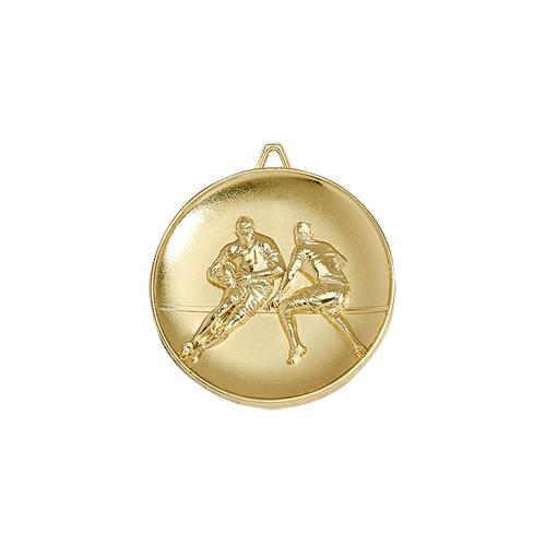 Médaille rugby or - 65mm.