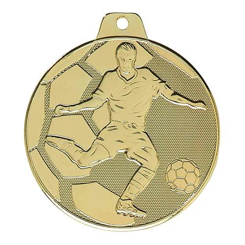 Lot de 25 médailles de foot or - économique - 50mm.