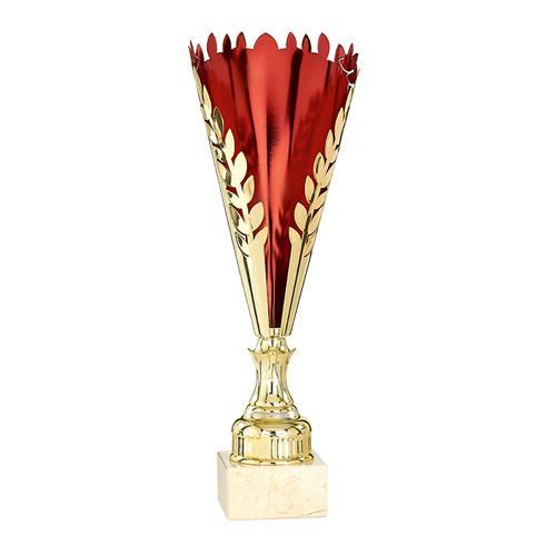Coupe rouge et or - économique - 19cm.