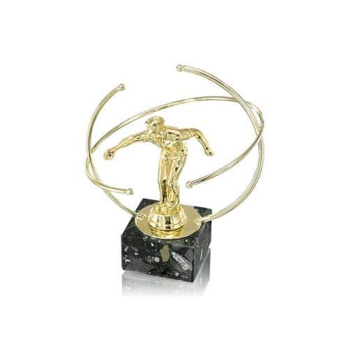 Trophée pétanque or - joueur spécial pétanque - 20cm.