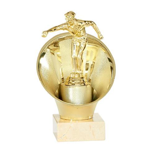 Trophée pétanque or - joueur dans boule - spécial pétanque - 20cm.
