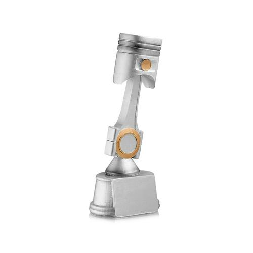 Trophée argent - spécial sports mécaniques - 20cm.