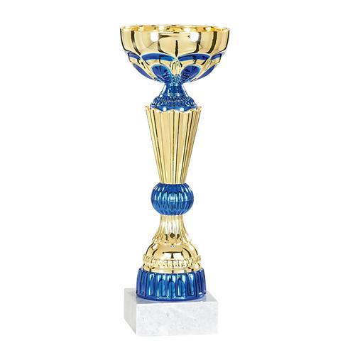 Coupe bleu et or - économique - 21cm.
