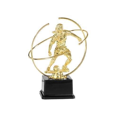 Trophée foot féminin argent joueuse - spécial foot - 22cm.