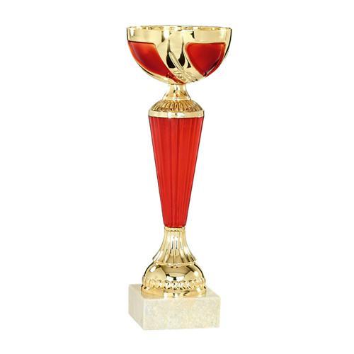 Coupe rouge et or avec coupelle - économique - 24cm.