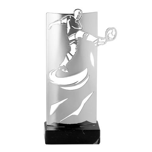 Trophée foot argent - luxe 24cm.