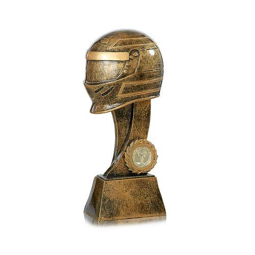 Trophée moto cuivrée - spécial sports mécaniques - 25cm.