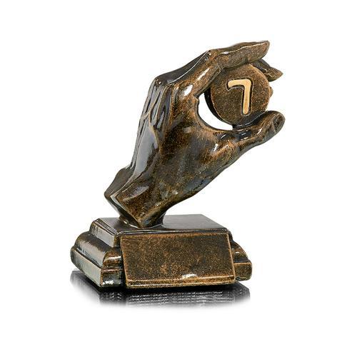 Trophée hockey cuivrée résine - 15cm.