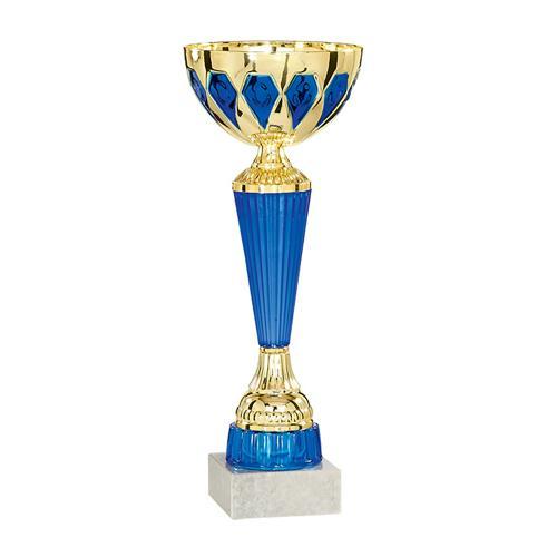 Coupe bleu et or - économique - 30cm.