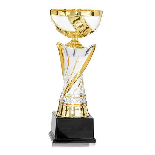 Coupe céramique blanc et or classique - 30cm.