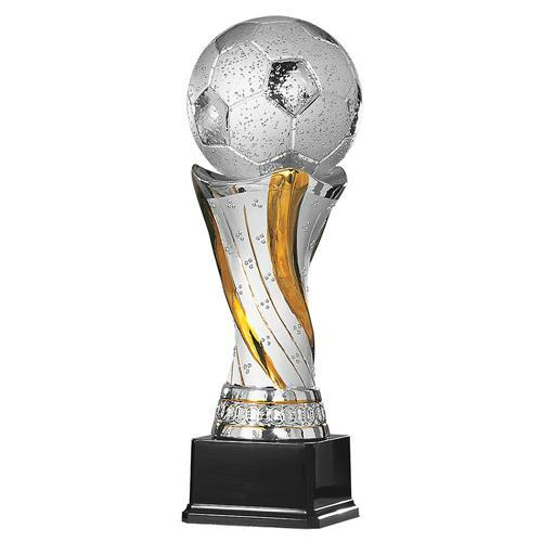 Trophée foot argent - spécial foot - 32cm.
