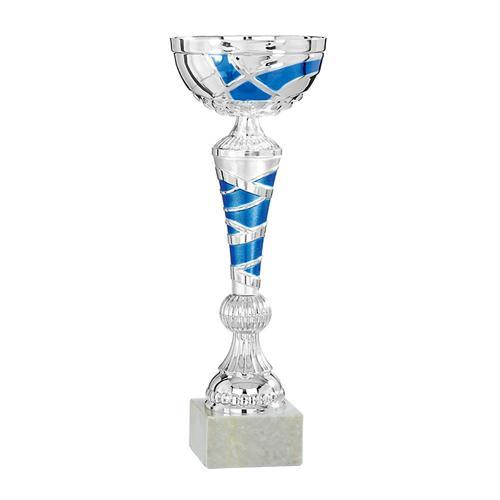 Coupe argent et bleu économique - 33cm.
