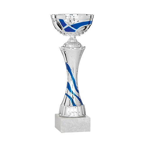 Coupe bleu et argent économique - 33cm.