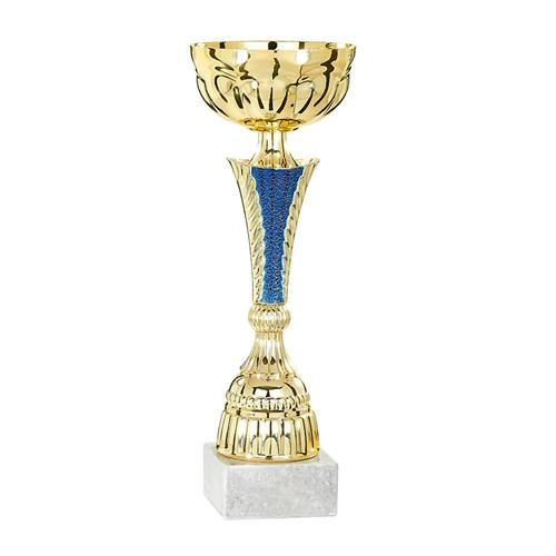 Coupe bleu et or - économique - 33cm.