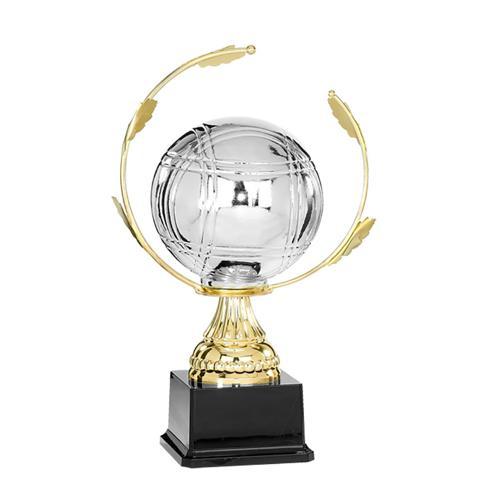 Trophée pétanque or - spécial pétanque - 33cm.