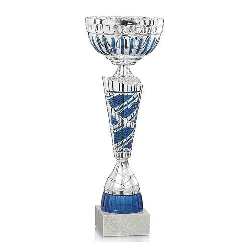 Coupe bleu et argent économique - 35cm.