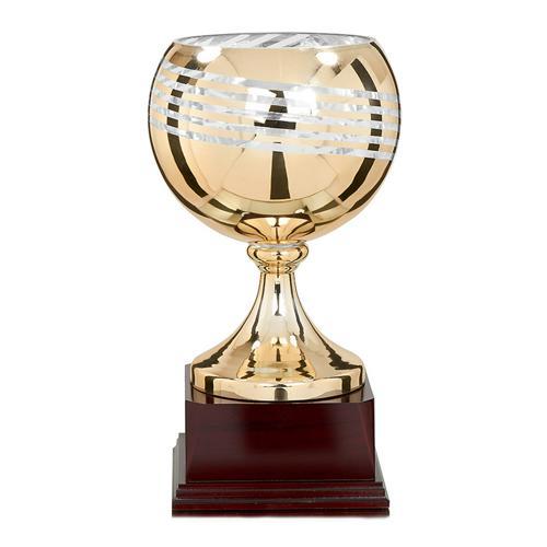 Coupe base bois bronze - luxe - 38cm.