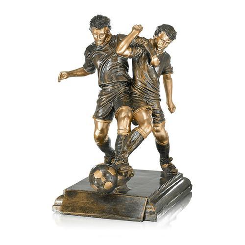 Trophée foot cuivrée - spécial foot - 40cm.