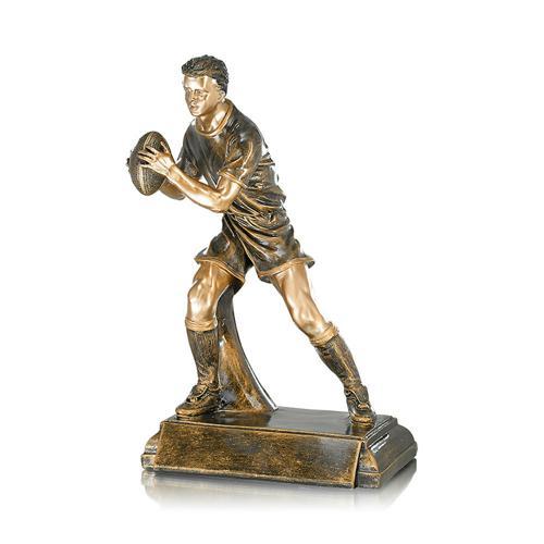 Trophée rugby cuivrée spécial rugby - 40cm.
