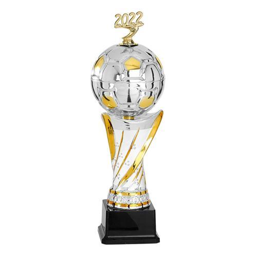 Trophée foot argent - ballon 2020 - spécial foot - 51cm.