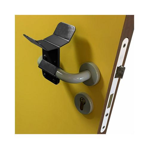 Lot de 6 accoudoirs pour poignée de porte (soit 3 portes) - coloris gris anthracite