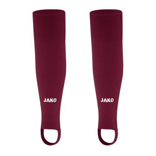 Chaussettes de foot sans pied - Jako - Glasgow 2.0 Rouge grenat